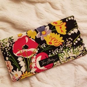 Vera Bradley Floral Checkbook Cover or Thin Wallet